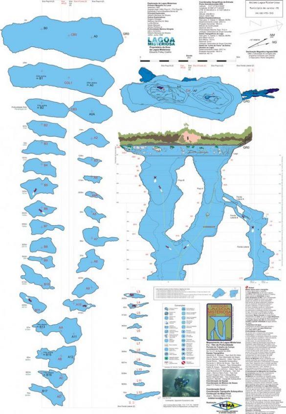 Resultados do Mapeamento Topográfico Subaquático da Lagoa Misteriosa - Jardim, MS