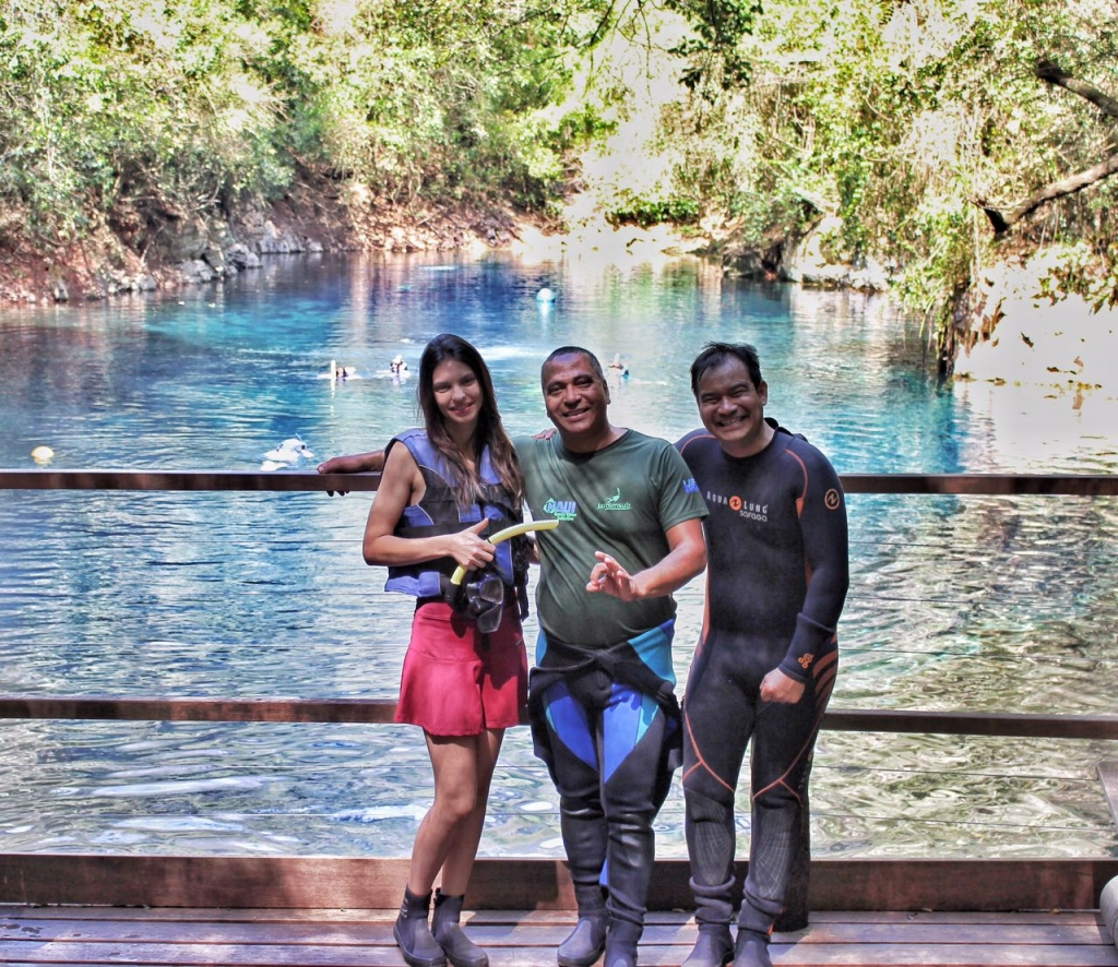 Colaboradores Águas Turismo na Lagoa Misteriosa