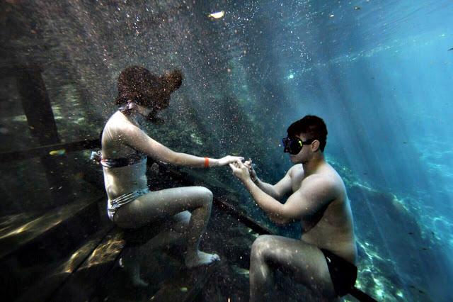 Pedido de casamento na Lagoa Misteriosa
