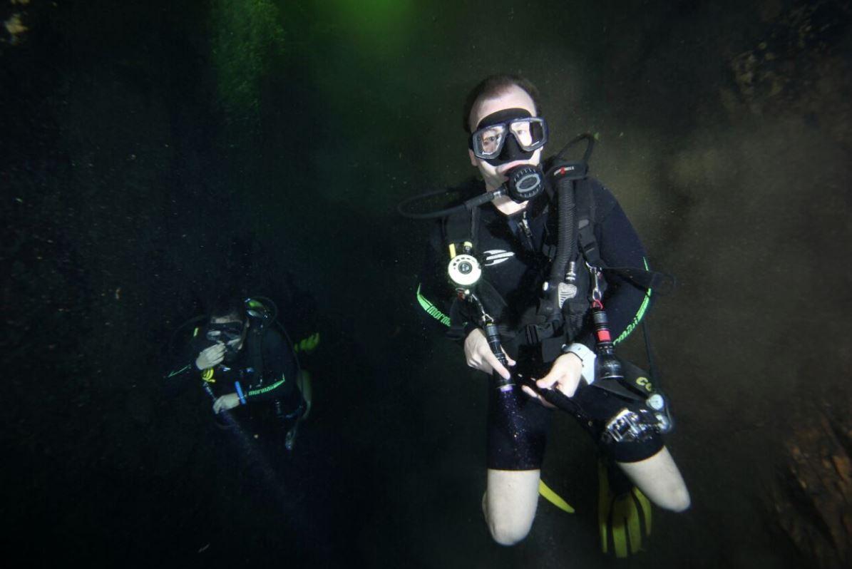 Mergulho com Algas na Lagoa
