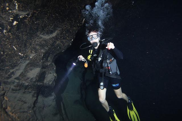 Mergulho com algas