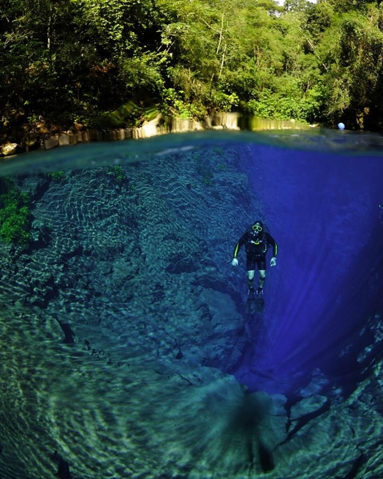 Folha de São Paulo cita Lagoa Misteriosa como um dos melhores pontos de mergulho