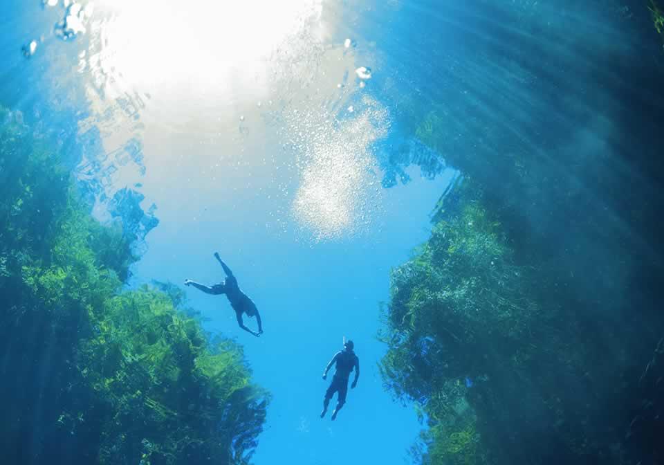 Flutuação na Lagoa Misteriosa